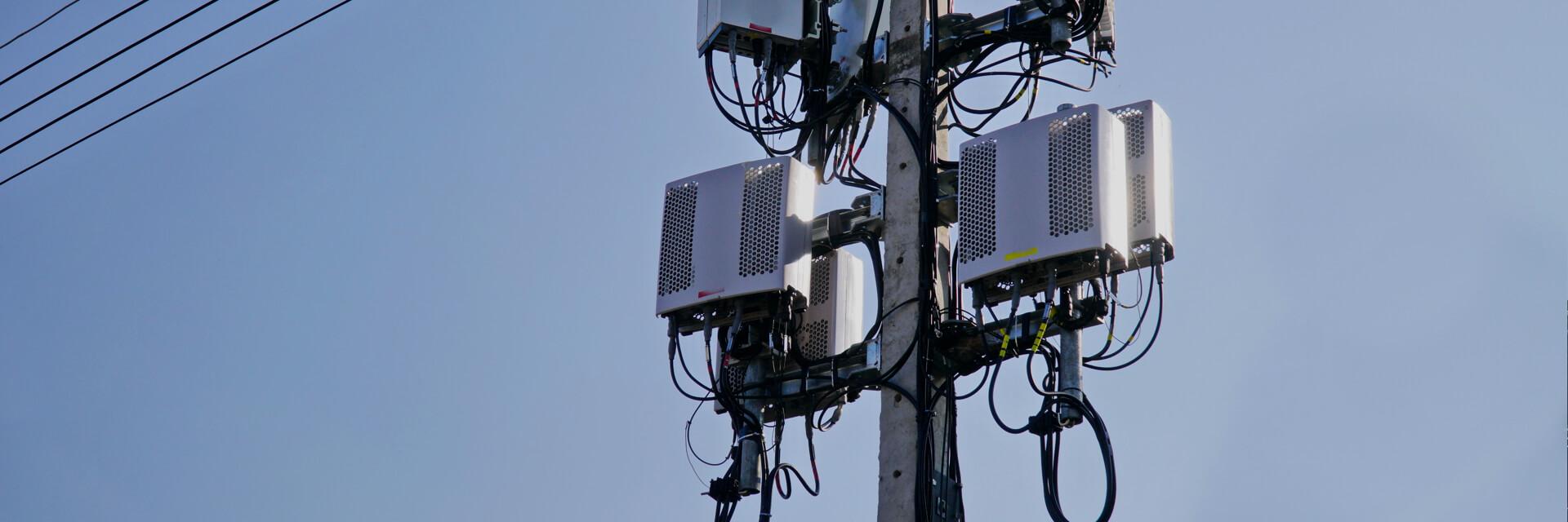 Инспекция башен сотовой связи Проводите осмотр, улучшив уровень безопасности и повысив эффективность.